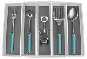 Sorbus Utensil Drawer Organizer, Expandable Cutlery Drawer Trays for Silverware, Serving Utensils, Multi-Purpose Storage for Kitchen, Office, Bathroom Supplies (Utensil Drawer Organizer - White)