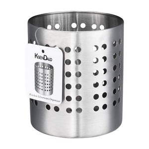 Kitchen Utensil Holder, KSENDALO Stainless Silverware holder, Kitchen Utensil Drying Cylinder,utility for Kitchen/Home/Office, Diameter 3.94""