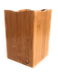 Bamboo Utensil Holder LARGE Caddy-Box-Storage-Container-Desktop and Counter-top Tidy-Storage-MATCHING UTENSILS AVAILABLE