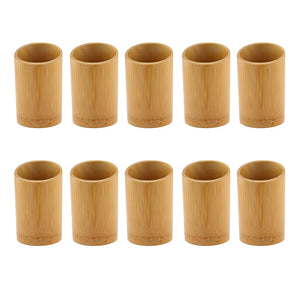 BambooMN - Bamboo Kitchen Utensil Holder - Carbonized Brown - 10 Pieces