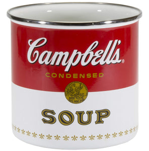 Enamelware - Campbell's Soup Pattern - Utensil Holder
