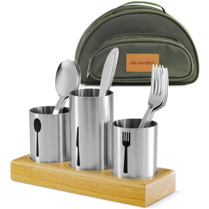 Stainless Steel Utensil Organizer With Cutlery