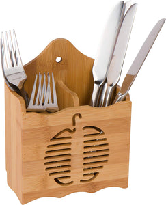 "5.7"" Bamboo Flatware Utensil Organizer and Holder by Trademark Innovations"