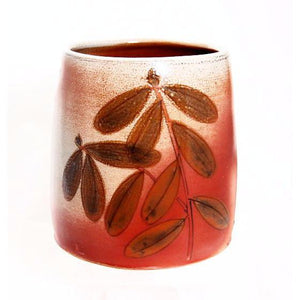 ARBUTUS LEAF DESIGN UTENSIL HOLDER
