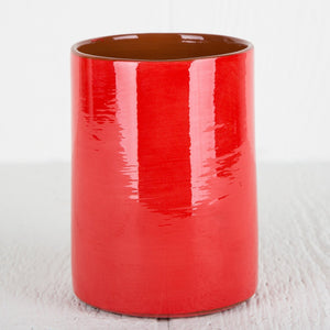 Handmade Red Utensil Holder