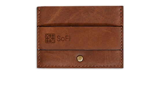 Branded Leather Card & Cash Wallet