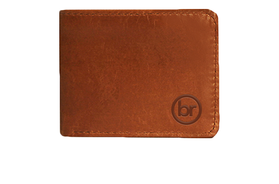 Branded Bifold Leather Wallet
