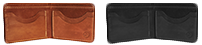 Branded Bifold Leather Wallet Variants