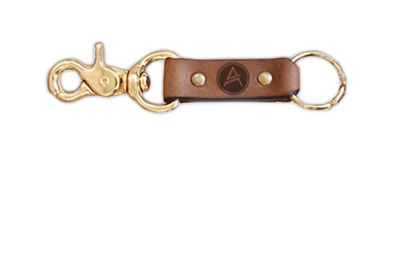 Leather & Brass Keyring