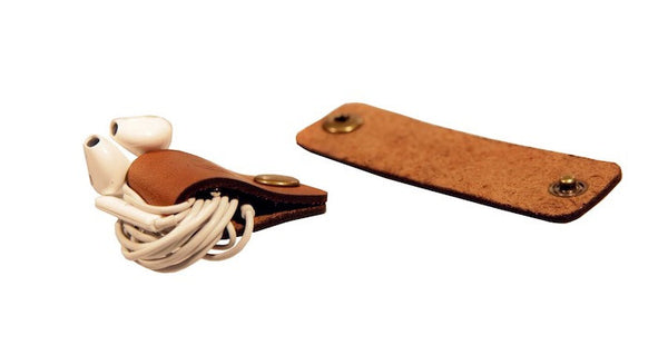 Leather Snap Cord Holder 3 Pack