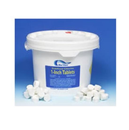 "1"" Tri-Chlor Chlorine Tablets 25 lb. Pail-Aqua Supercenter Outlet - Discount Swimming Pool Supplies"