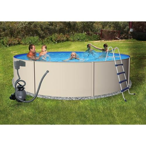 "12' Round 48"" Blue Lagoon Pool Package-Aqua Supercenter Outlet - Discount Swimming Pool Supplies"