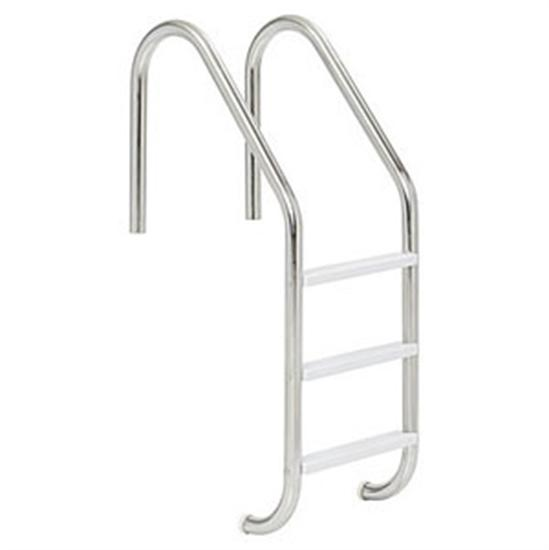 3 Step Stainless Steel In-Ground Pool Ladder - Plastic Tread-Aqua Supercenter Outlet - Discount Swimming Pool Supplies