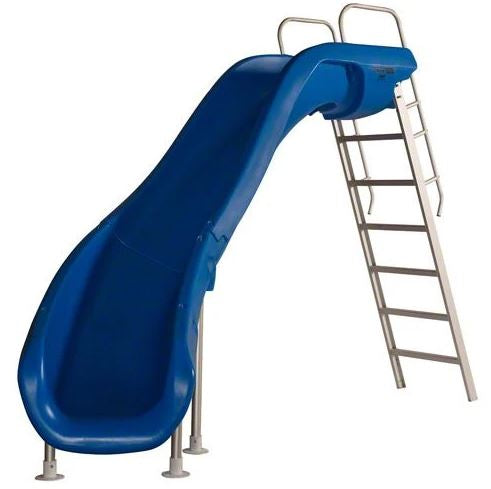 SR Smith Rogue 2 Pool Slide Blue Left Curve - 610-209-5823-Aqua Supercenter Pool Supplies