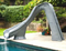 SR Smith Typhoon Slide Left Turn Gray Granite - 670-209-58224-Aqua Supercenter Pool Supplies