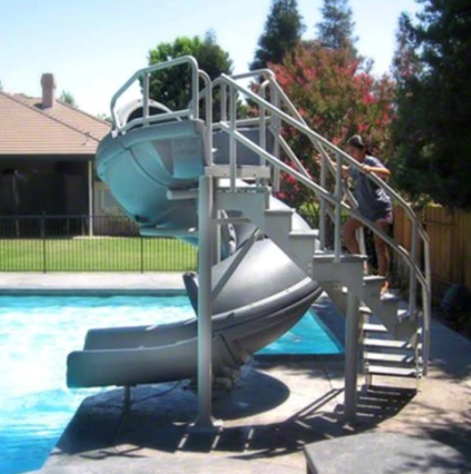 SR Smith Vortex Slide Open Flume & Stairs Gray Granite - 695-209-324-Aqua Supercenter Pool Supplies