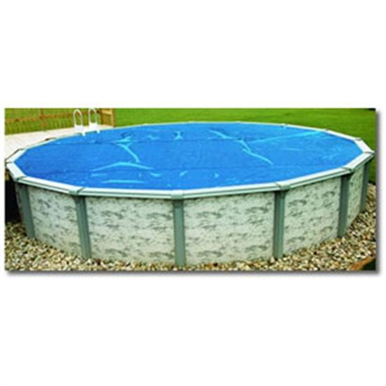 8-mil Above Ground Blue Solar Blanket -18' x 40' Oval-Aqua Supercenter Outlet - Discount Swimming Pool Supplies