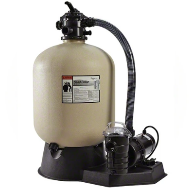 Pentair 1 HP Pump and 19 Inches Sand Dollar Filter System - PNSD0040DE1160-Aqua Supercenter Pool Supplies