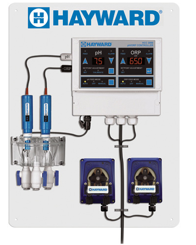 Hayward HCC 2000 Controller Package with Premounted Chemical Pumps - W3HCC2000CP-Aqua Supercenter Pool Supplies