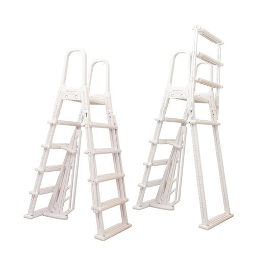 Above Ground A-Frame Flip Up Pool Ladder-Aqua Supercenter Outlet - Discount Swimming Pool Supplies