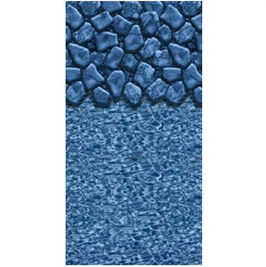 "Above-Ground Pool 20 GA. 48"" Boulder Swirl Beaded Vinyl Liner- 12' X 21' OVAL-Aqua Supercenter Outlet - Discount Swimming Pool Supplies"