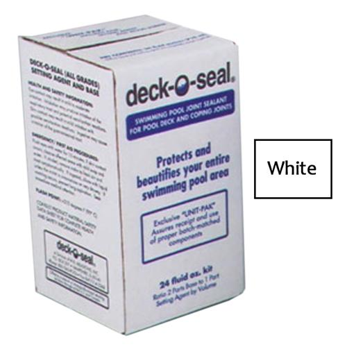 Deck-O-Seal 24 Oz Kit Sealant for Horizontal Joints Pour Grade - White-Aqua Supercenter Outlet - Discount Swimming Pool Supplies