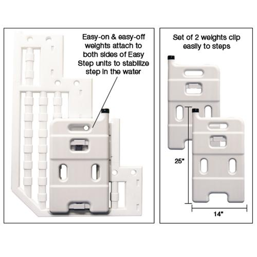 Easy Step Weight System - Pair-Aqua Supercenter Outlet - Discount Swimming Pool Supplies