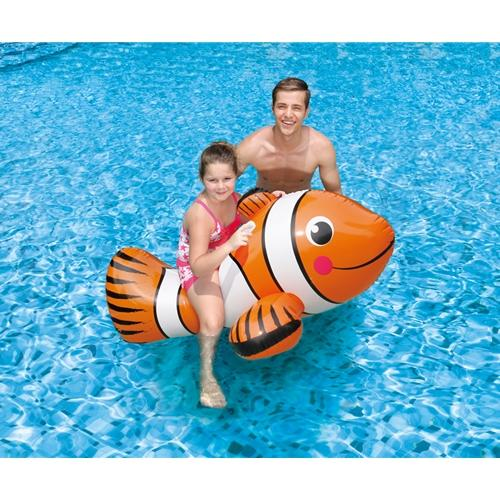 "Giant 67"" Clown Fish Ride On Inflatable-Aqua Supercenter Outlet - Discount Swimming Pool Supplies"