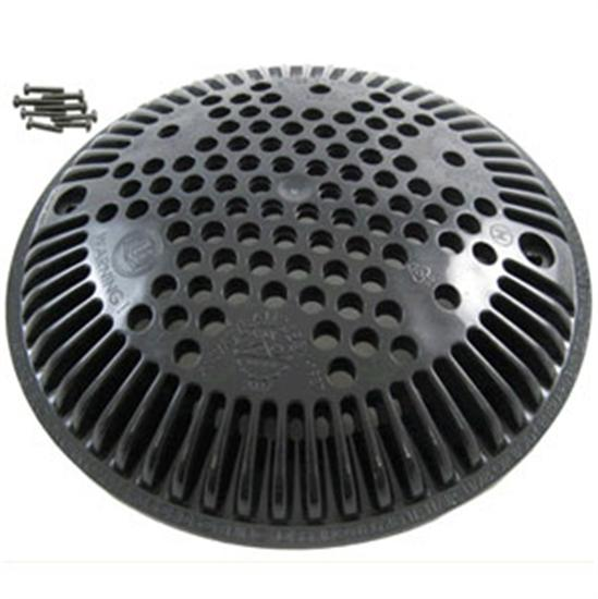 Hayward New Style Main Drain Cover - Black-Aqua Supercenter Outlet - Discount Swimming Pool Supplies