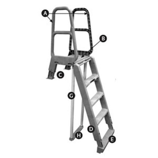 Hercules Main Access Easy Step Entry Frame Ladder Taupe-Aqua Supercenter Outlet - Discount Swimming Pool Supplies