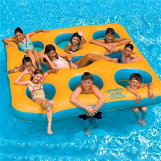Inflatable Labyrinth Island-Aqua Supercenter Outlet - Discount Swimming Pool Supplies