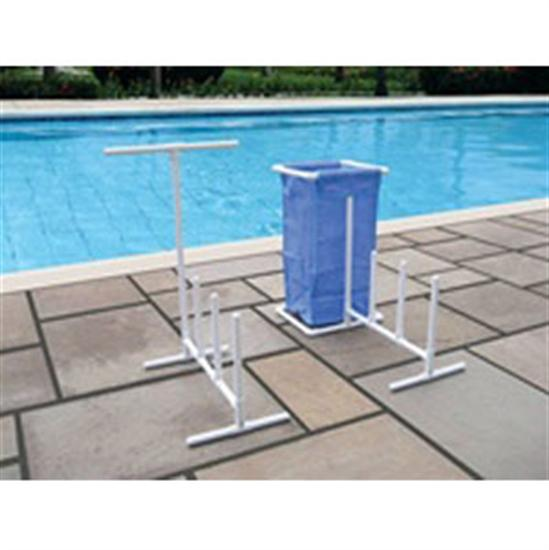 International Leisure Raft Caddy with Hamper-Aqua Supercenter Outlet - Discount Swimming Pool Supplies