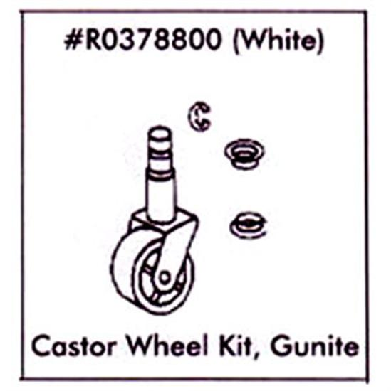 Jandy Gunite Ray-Vac White Caster Wheel Kit - R0378800-Aqua Supercenter Outlet - Discount Swimming Pool Supplies