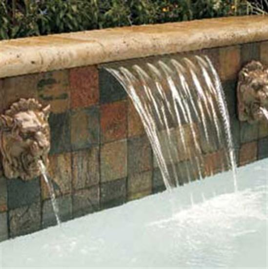 "Pentair PacFab MagicFalls- Waterfall Sheet Gray - 3' Long 6"" Lip-Aqua Supercenter Outlet - Discount Swimming Pool Supplies"