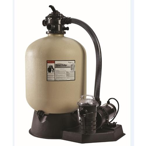 "Pentair Sand Dollar Filter System 19"" Sand Filter w- 1 HP Pump and Hose Kit-Aqua Supercenter Outlet - Discount Swimming Pool Supplies"