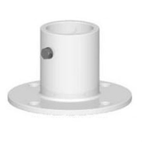 "Permacast 1.9"" Aluminum Slide Flange - White-Aqua Supercenter Outlet - Discount Swimming Pool Supplies"