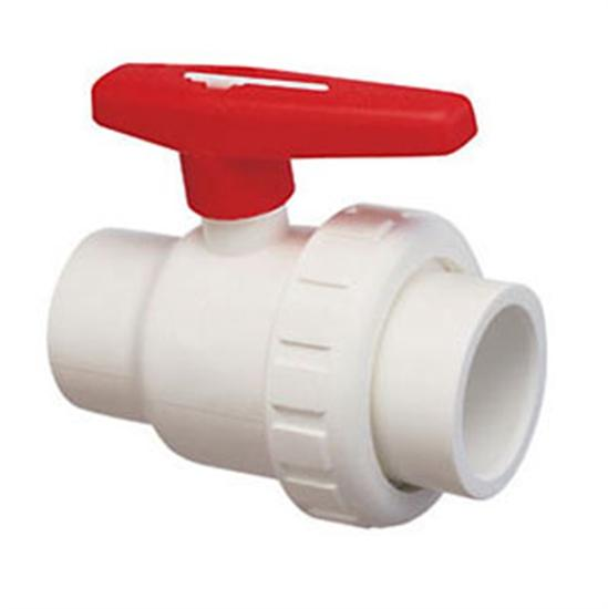 "Praher 1.5"" MPT x FPT Single Union Ball Valve PVC - Schedule 8-Aqua Supercenter Outlet - Discount Swimming Pool Supplies"