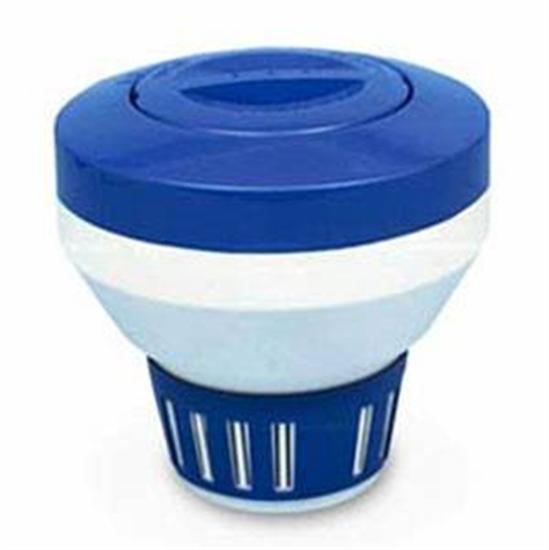 Rainbow Chlorine Bromine Floating Chemical Dispenser - Blue-White-Aqua Supercenter Outlet - Discount Swimming Pool Supplies