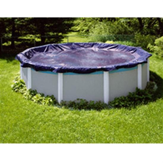 Royal Above Ground Winter Cover - 16' x 25' Pool Size - 19' x 28' Oval Cover - 3 ft Overlap-Aqua Supercenter Outlet - Discount Swimming Pool Supplies