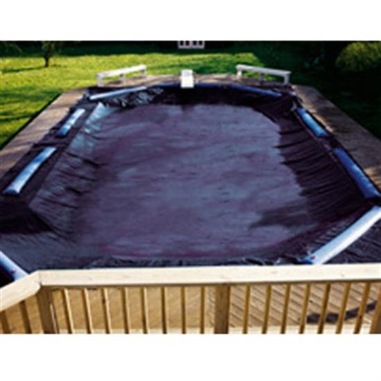 Royal In-Ground Winter Cover - 18' x 40' Pool Size - 23' x 45' Rect. Cover - 5 ft Overlap-Aqua Supercenter Outlet - Discount Swimming Pool Supplies