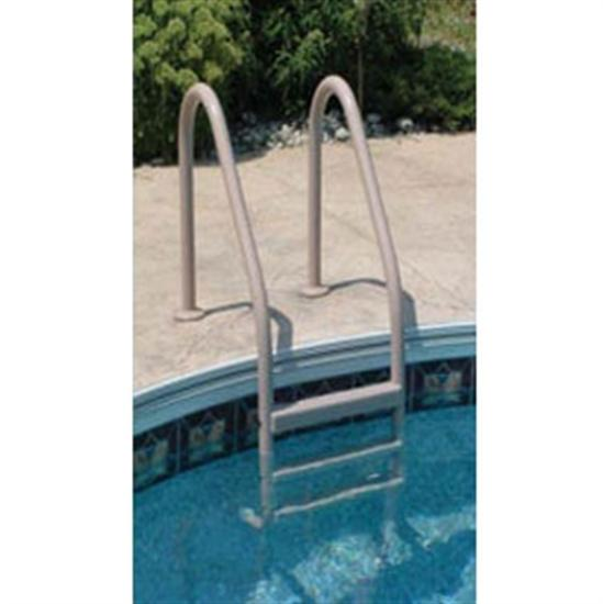 Saftron 3 Step In Ground Polymer Ladder - Gray-Aqua Supercenter Outlet - Discount Swimming Pool Supplies