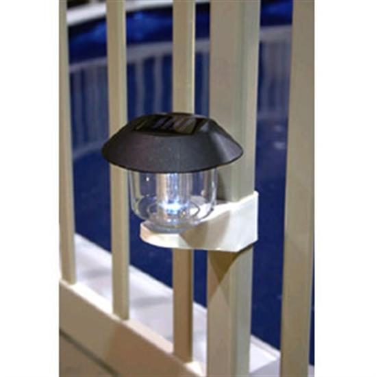 Solar Fence Light with Bracket - Fits Any Fence-Aqua Supercenter Outlet - Discount Swimming Pool Supplies
