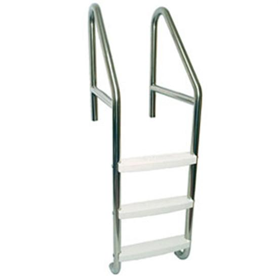 "SR Smith 30"" Dade County Elite 3 Step Roll Out Ladder with Crossbrace-Aqua Supercenter Outlet - Discount Swimming Pool Supplies"