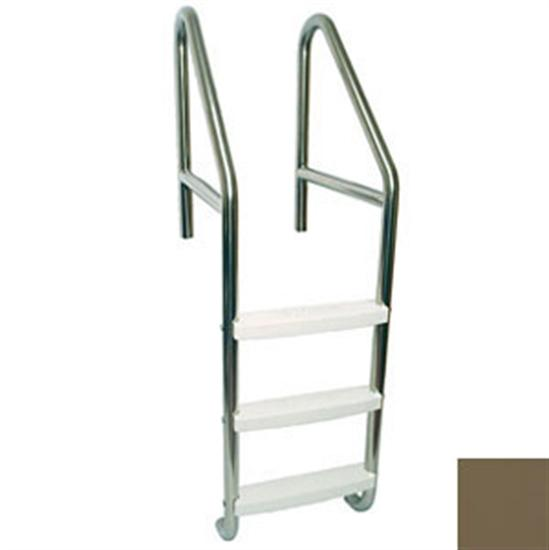 "SR Smith 36"" Dade County Elite 3 Step Roll Out Ladder with Crossbrace - Marine Grade-Aqua Supercenter Outlet - Discount Swimming Pool Supplies"
