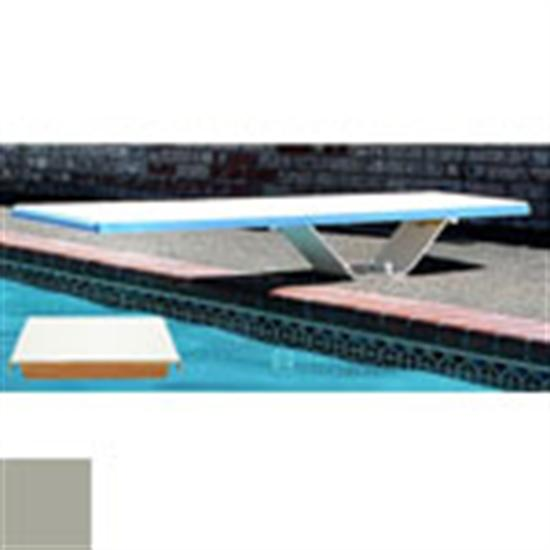 SR Smith 8' Frontier II Diving Board - Silver Gray - Matching Thread-Aqua Supercenter Outlet - Discount Swimming Pool Supplies