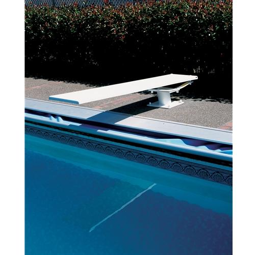 SR Smith Cantilever Jump Stand with 8' Frontier III Board - Silver Gray with Matching Tread and White Springs-Aqua Supercenter Outlet - Discount Swimming Pool Supplies