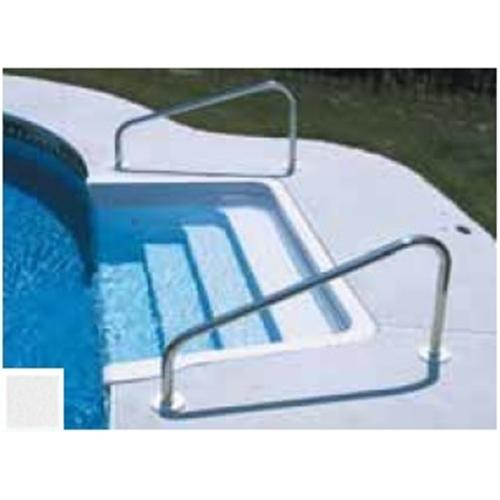 "SR Smith Deck Mounted Hand Rail 36"" Pair - White-Aqua Supercenter Outlet - Discount Swimming Pool Supplies"
