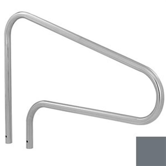 SR Smith Deck Mounted SealedSteel Stair Rail - Vinyl Gray-Aqua Supercenter Outlet - Discount Swimming Pool Supplies