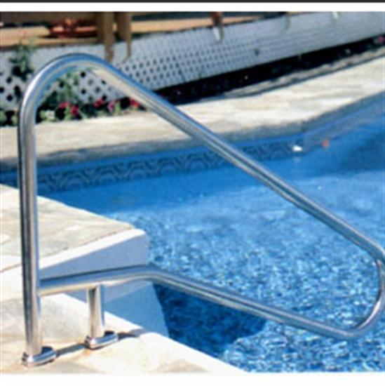 "SR Smith DMS-102 Deck Mounted Stair Rail - .049"" thick-Aqua Supercenter Outlet - Discount Swimming Pool Supplies"