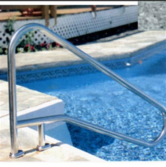 "SR Smith DMS-102 Deck Mounted Stair Rail - .049"" thick - Rock Gray-Aqua Supercenter Outlet - Discount Swimming Pool Supplies"